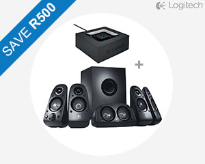 Logitech 5.1 Speakers & Bluetooth Adapter